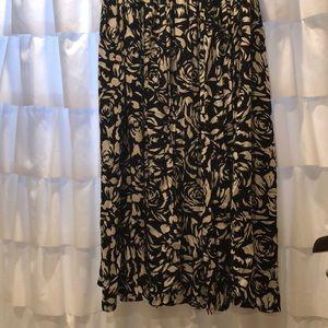 Orvis Black & White Rayon Maxi Skirt!